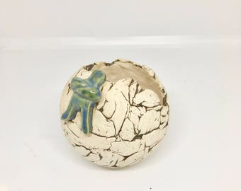 Handbuilt Sphere Pot for your Succulents and Cacti in Stoneware Clay
