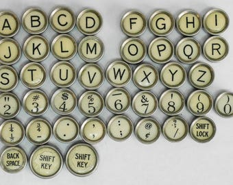 Typewriter Key Flat Back Vintage Antique 1930's Remington Portable Your Choice ref017