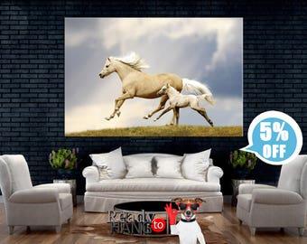 Running horses, White Horse, Horse Art Print, Horse wall art, Horse canvas art, Horse print, Horse decor, Horse canvas print, Horse gifts