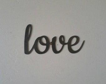 Love Metal Sign, Love Sign, Love Metal Word, Love Metal Art