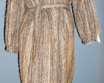 Vintage, 80s, mohair blend, duster, wrap, coat, MJ Seattle, size small, USA, MINT