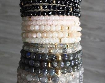 Onyx Stacking Bracelet