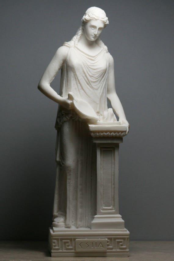 Hestia Vesta Statue Goddess of Home Family Hearth Alabaster