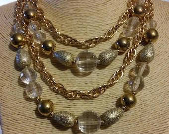 Coro Multi-Strand Necklace