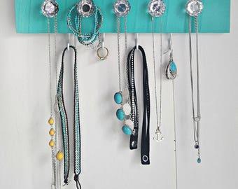 Turqoise Jewelry Organizer,  Jewelry Holder, Necklace Holder, Jewelry Storage,  Necklace Storage, Minimalist Jewelry storage, bracelet holde