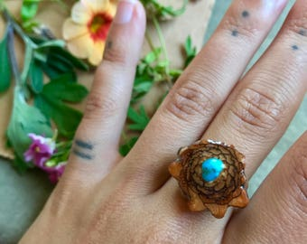 Turquoise Pinecone Ring