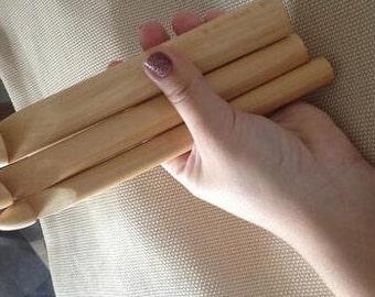 3 PC LOT 15/20/25mm   Bamboo Knitting  Wood Crochet Hooks Yarn Dyed Sewing Tool Knitting Accessory Needle Knit 20cm Length