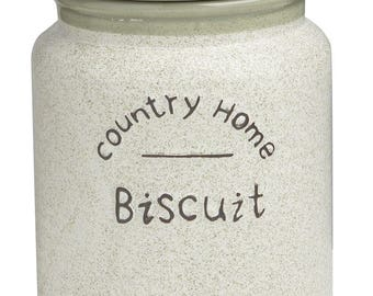 13.5 X 13.5 with Airtight cookie jar Country Home x 18 cm