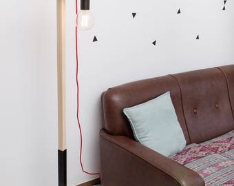 Wooden lamp, edison lamp, floor lamp, design lamp, LED bulb lamp. Hamburg Lamp by Belight Barcelona