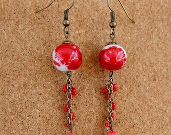 Chinese Lantern Earrings