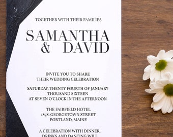 Digital Wedding Invitation / Digital Marble Invitation / Modern Wedding Invitation / Marble Invitation / Marble Invites /