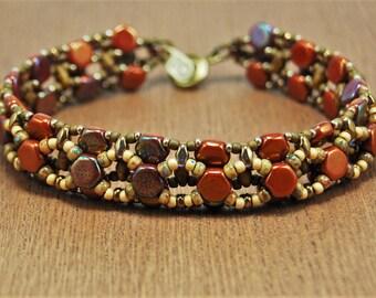 Red Honey Comb Bracelet