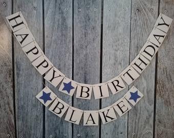 Birthday banner, happy birthday banner, personalized birthday banner, photo prop birthday banner, birthday decorations, birthday name sign