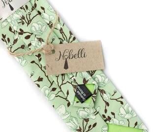 Floral tie, Green tie, Mens ties, Wedding tie, green tie, Floral necktie, Green floral ties, wedding green tie, Skinny tie, mens floral tie
