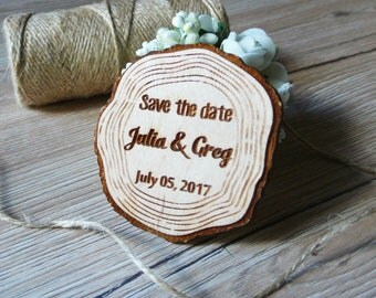 10 Wood Slice Save The Date Wooden Magnets Save The Date Magnets Rustic Favor Wedding Magnets Wooden Magnets Custom Magnets Thank You Favors