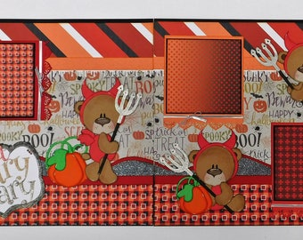 Not Beary Scary Double Page Scrapbook Layout