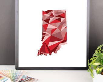 INDIANA State Pattern Map Print, Indiana Poster, Indiana Wall Art, Indiana Art, Indiana Gift, Indiana Decor, Indiana Print, Indiana State