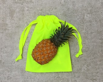 smallbags neon yellow canvas - 2 sizes - reusable bags - zero waste