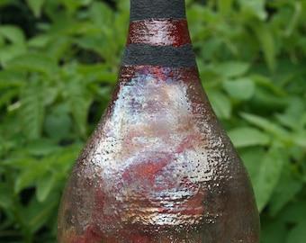 Ceramic Raku Bottle Vase