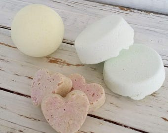 Shower Favors-Bridesmaid Favors-Wedding Favors-Party Gifts-Pampering Party-All Natural - Spa like - Bath Bomb-Bath Salt-Thank you gift