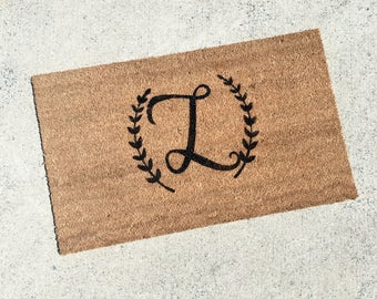 Monogrammed Doormat - Personalized Doormat - Custom Doormat - Custom Door Mat - Personalized Welcome Mat - Custom Welcome Mat - Initial 039