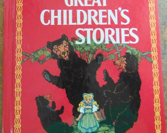 Great Childrens Stories , 1972 , Classic Volland Edition , Classic Childrens Stories, Three LIttle Pigs , Wolf and Fox ,