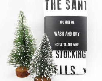 Christmas Tea Towel - You are the to my...