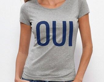 Yes T-shirt - grey women