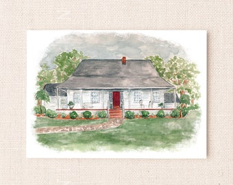 Custom Watercolor Venue Painting for Invitations, Wedding Gift