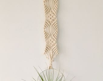 Frankie Silver Macrame Air Plant Hanger, FREE SHIPPING