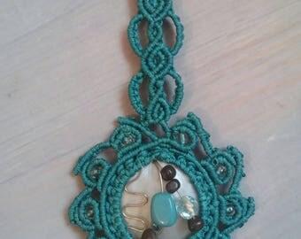 Macrame necklace.