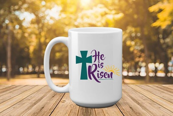 He is risen easter easter gift easter mug gift for like this item negle Gallery