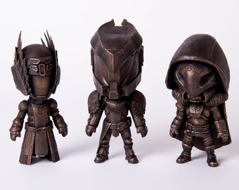 Destiny Inspired Figures - AGED BRONZE - Triple pack