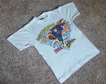 Vintage 1990s Metropolis Superman T Shirt