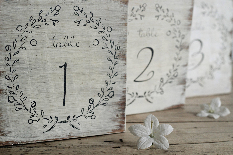Rustic Table Number - Wedding Table Numbers - Vintage Wedding Signs ...