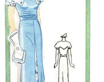 """Vintage 1935 dress pattern for 40"""" bust size."""