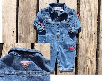 Baby Guess 3M / 6M Vintage Denim Romper