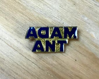ADAM ANT PIN - Vintage Enamel Pins, New Wave, Band Merch, Great Gift!