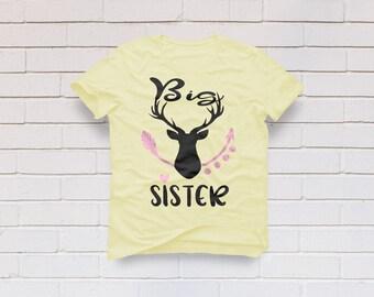 Big sister svg, Sister svg, deer head svg, Arrow svg, Christmas svg, Newborn svg, Girl svg, Cricut, Cameo, Clipart, Svg, DXF, Png, Pdf, Eps