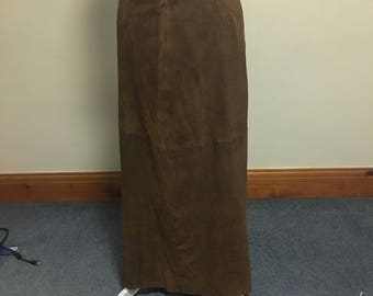 Brown suede skirt size 10