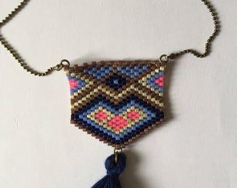 Necklace pearls miyuki ethnic patterns