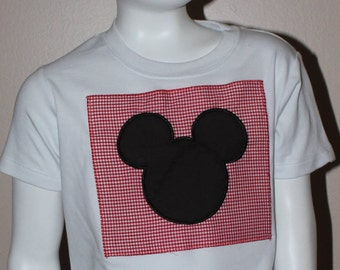 Mickey Mouse appliqued shirt
