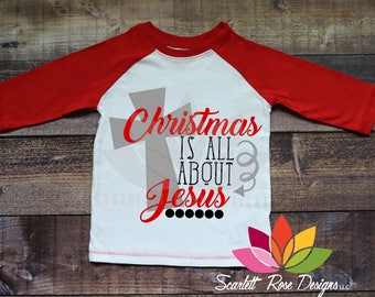 Christmas SVG, Christmas is all about Jesus, Cross cut file for silhouette cameo and cricut