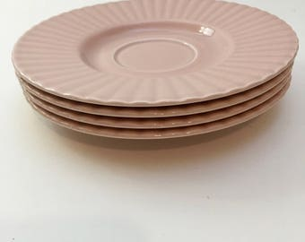 Vintage Pink Plates / Mikasa Potpurri Tea Saucers, Made in Japan / Rose Blush Saucers