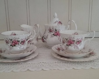Royal Albert Lavender Rose Tea Set for 2