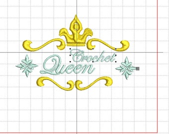 "Embroidery file ""Crochet Queen"""