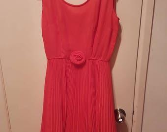 Vinage Pink Pleated Dress