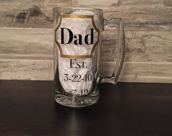 Dad Established- Beer Mug