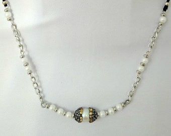 Necklace 185N with pearl