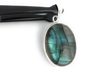 Labradorite Pendant, Gemstone Pendant, Labradorite, Gemstone Jewelry, Silver Pendant, Sterling Silver Pendant, Natural Gemstone Pendant